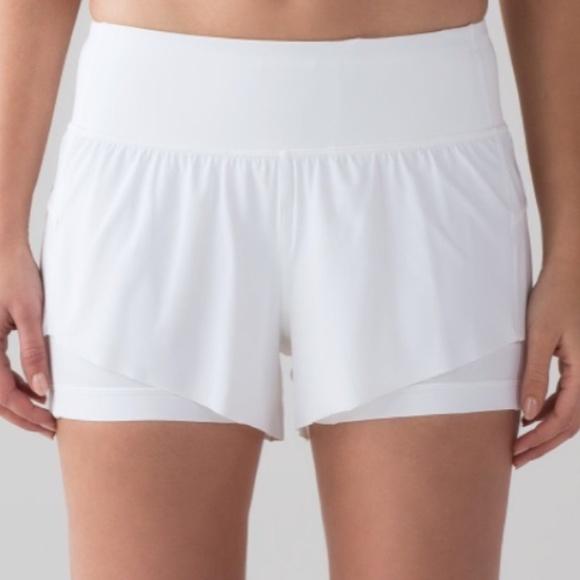 lululemon athletica Pants - Lululemon white shorts